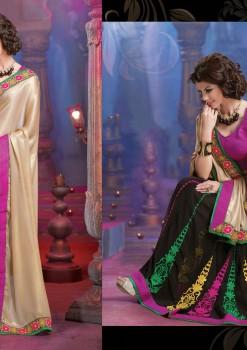 Black & Beige Alluring beautiful Designer Saree