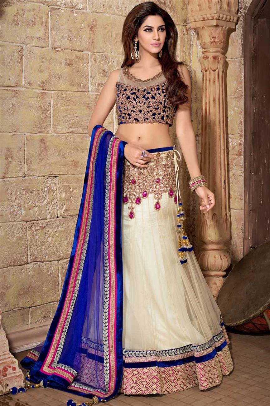 Designer blue net lehenga choli aalayaaonline for Designer com