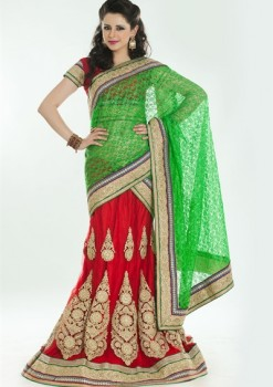 Amazing Red & Green Lehenga Choli