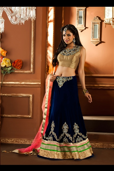 Awesome Wedding Wear Lehenga Choli In Dual Color 1