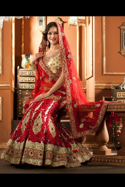 Attractive Beige Color Lehenga Choli 1