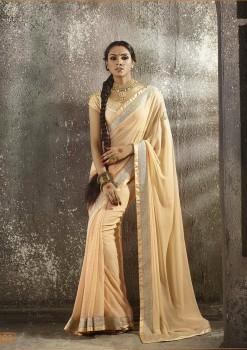 Beige Most Elegant Designer Saree