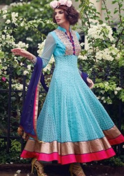 Charming Diva Long Anarkali Designer Party-Wear