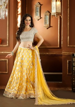 Stylish Yellow Color Lehenga Choli