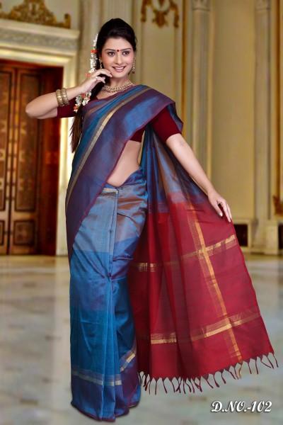 Pure Silk Cotton Designer Saree 1