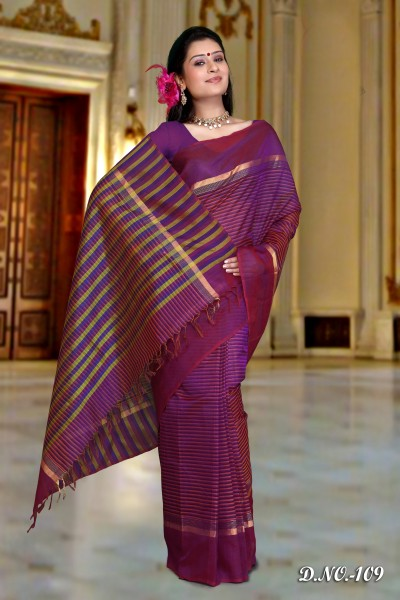 Pure Silk Cotton Designer Saree 1