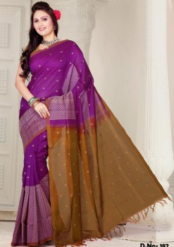 Pure Silk Cotton Designer Saree