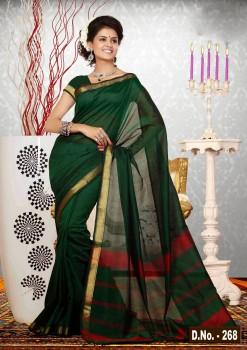 Green Pure Silk Cotton Saree
